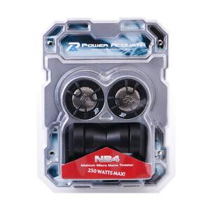 "Power Acoustik NB-4 250 W Max 1"" 4-Way Mount 4-Ohms Stereo Car Audio Tweeters"