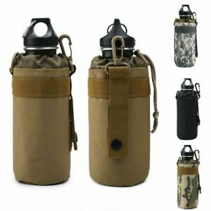 Tactical Army Molle Cooler Sleeve Cover Pouch Water Bottle Bag With Metal Hook