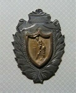 EARLY CRICKET GOLD & SILVER FOB MEDALLION MEDAL