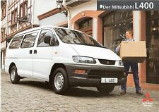 Prospekt / Brochure Mitsubishi L400 02/1999