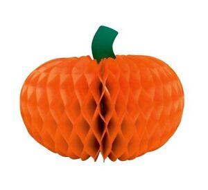 "Harvest Happy Thanksgiving 12"" Pumpkin Honeycomb Centerpiece"