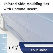 "Painted w/Chrome Insert 1.25"" Body Side Moulding Set for Lincoln MKZ Sedan"