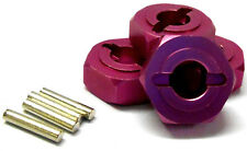 L177 1/8 Buggy M14 14mm Drive Hex Hub Wheel Adapter Alloy Pink 4 6mm 083046