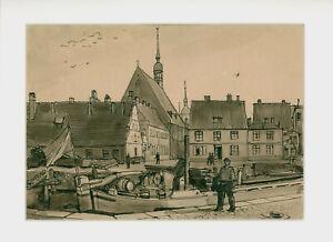 Kliefert, Erich (1893 – 1994 Stralsund) Am Langenkanal Heilgeistkirche Stralsund