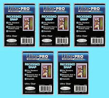 5 ULTRA PRO RECESSED SNAP STANDARD SIZE Card Holder Trading Sports Plastic Case