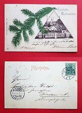 AK GOTHA 1901 Hauptmarkt mit Aufdruck Fröhliche Weihnachten     ( 20981