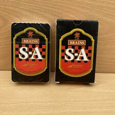 More details for vintage s a brains cardiff brewery beer ale advertising playing cards - sealed