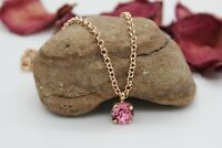 Rose Gold Rose Pink Ankle Chain-Anklet made with Swarovski Crystal Elements