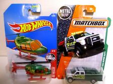Matchbox Hot Wheels Wildland Fire Brush Truck Engine Helicopter Chopper Lot