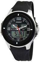 Akzent Herrenuhr Schwarz Analog Digital Datum Alarm Armbanduhr X24200018001