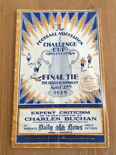 1929 Fa Cup Final Bolton Wanderers and Portsmouth Programme Original Excellent