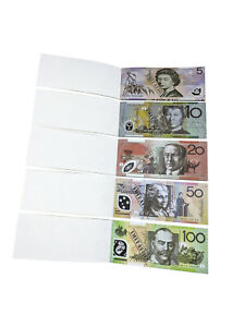 Souvenir Note Pad Kids Toy Fake Notepad Play Australian Dollar Money 50 Sheets