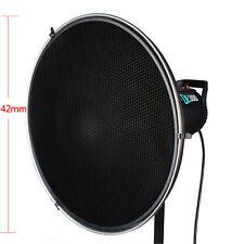 "Photo Studio Flash Beauty Dish 42cm/16"" Honeycomb Grid Bowens Mount inner Silver"