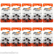 1 Box of (60 Batteries) Hearing Aid Zinc Air Batteries A13 Size: 13 Ultracell
