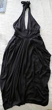 TED BAKER Little Black Halter Dress w/ Pleated and Braid Detail Size 0