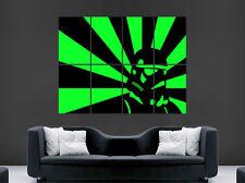 Cartel De Star Wars Stormtrooper Verde Neón Impresión De Pared Gigante Colores Arte Abstracto