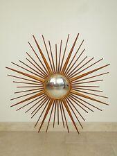 ancien miroir soleil CHATY VALLAURIS bombe sorciere old mirror sunburst