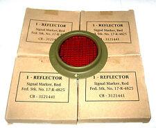 Jeep mb/gpw-réflecteurs rouge (4) - rond-corcoran brown-A1306 -