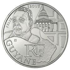 Pièce de 10 euros des régions Guyane 2012.