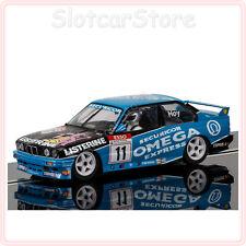 """Scalextric c3866 bmw m3 e30 Omega """"hoy No. 11 Listerine"""" 1991 BTCC 1:32 auto dpr"""