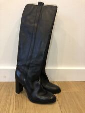 Authentic Michael Kors Black Leather Knee High Boots Size 8M UK 6
