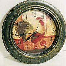 Rooster Clock Round 11 inch Diameter Country Kitchen Home Decor Farm Chicken