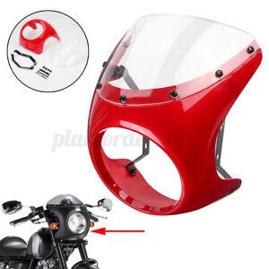 "7 "" Universal Motorcycle Headlight Retro Cafe Racer Handlebar Fairing Windshield"