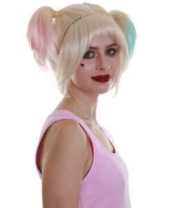 Women's Multi Color Straight Pigtails Length Trendy Fabulous Villain Wig HW-6751