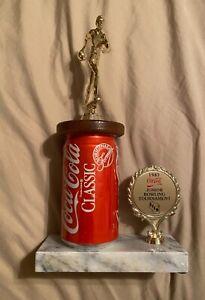 """Coca Cola Classic 1987 Junior Bowling Tournament Trophy 11"""" x 6"""""""