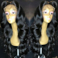 Loose Body Wavy Full Lace Front Wigs Malaysian Remy Human Hair Wig Black Women P