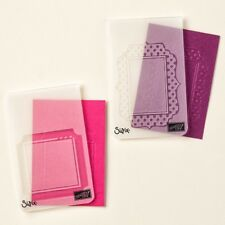 Stampin Up! Fun Frames Textured Impressions Embossing Folder –  NEW – Retired