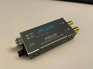 AJA FIDO-2T-X-R0 2-Channel 3G-SDI to Single Mode LC Fiber Transmitter
