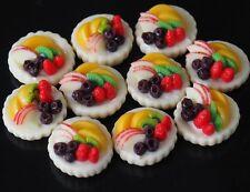 DOLLHOUSE MINIATURES 10 MINI SUMMER FRUIT TART CAKE BAKERY FOOD SWEET DECO SS08