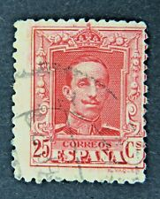 Spanish 25 Cent Postage Stamp with Control Number on Reverse, circa 1922