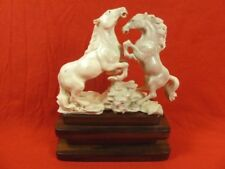 (horse-3) wild pr Horses of shed ANTLER figurine Bali detailed carving stallions