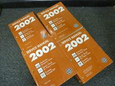 2002 GMC Yukon & Denali XL SUV Shop Service Repair Manual 4 Vol Set SLE SLT