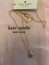 Kate Spade Everyday Spade Charm Necklace Gold Black W Dust Bag O0ru3073