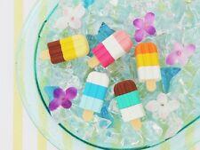 IWAKO 5 Ice Cream Bar Popcicle Take-Apart Puzzle Rubber Eraser Set Made in Japan