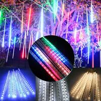 144 LED Meteor Shower Falling Rain Drop Icicle Xmas Festival String Fancy Lights