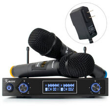Kmise UHF Wireless Microphone System Dual Channel Cordless Handheld Mic Set