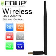 ANTENNA USB WIRELESS NANO ADATTATORE WIFI 150Mbps DECODER XR PC EDUP EP
