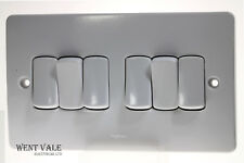 Brushed Steel 1x2 WAY DIMMER SWITCH 400W **New** 7331 56 Legrand Synergy