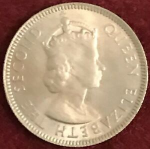 Elizabeth II • 1st portrait • Seychelles 1954 Copper-nickel 25 Cents Coin 19.2mm