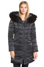 1 Madison Ladies Long Luxe Down Walker Faux Fur Coat, Black, Size XLarge
