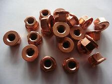 10 Stück Auspuff Mutter M8 SW 13 Kupfermutter Krümmermutter Turbolader  Krümmer