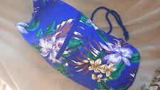 XLarge Blue Beach Bag Bucket Sailor Backpack Style Waterproof Drawstring NIP