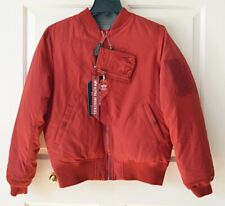 NWT Alpha Industries Ma-1 Down Flight Commander Womens M Red Jacket Reversible