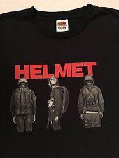 Vintage Helmet Mens T-shirt Band, Concert Black Sz. L
