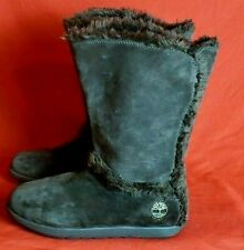 Timberland MukLuk 9.5M Winter Boots 61643 Brown Suede Pull On Faux Fur Lined