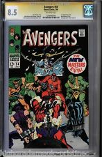 AVENGERS #54 CGC 8.5 STAN LEE SS SIGNED 1ST NEW APP MASTERS OF EVIL #1206485009